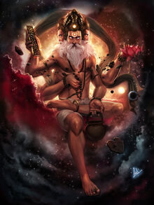 Brahma god of creation by molee.jpg