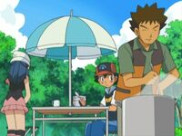 Brock cooking for ash and dawn in pokemon the series