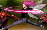 Pixie fighting N'Garai