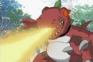 Tyrannomon's Fire Breath
