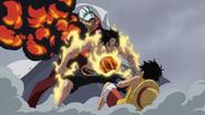 Ace Saves Luffy