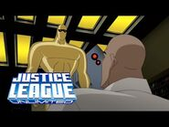 Gold Amazo finally meets Lex Luthor to destroy him - Justice League Unlimited