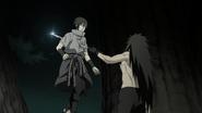 Madara stabs Sasuke