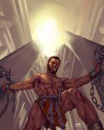 Samson (Biblical) Destroys Pillars