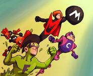 Rockband Superheroes