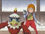 Yolei and Hawkmon