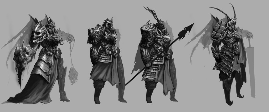 Cursed warrior 343/King Chaos' Hellspawns