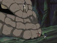 Naruto stops snake