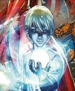Franklin Richards with his personal Creation