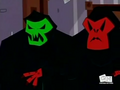 Red and Green Ghosts