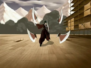 Mai (Avatar Last Airbender) throwing knives