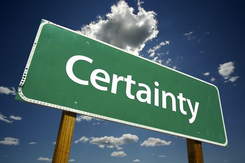 Certainty Inducement