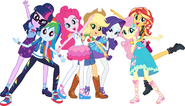 MLP Equestria Girls Digital Series full group pose 1