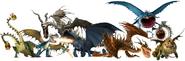 Httyd dragon renders by tfprime1114