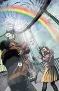 Ororo Munroe's (Marvel Comics) attempt to save these humans caused a massive colored rainbow.