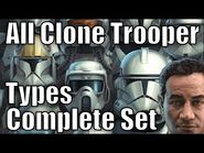 All Clone Trooper Types and Variants Complete Set