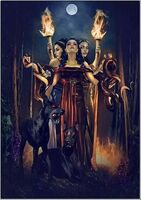 Hecate with dogs