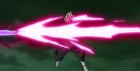 Goku Black fires a long ranged attack.