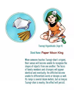 Tsurugi Higashikata (JoJolion) Paper Moon King