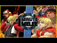 Rock & Terry vs Ken & Ryu (King of Fighters vs Street Fighter) - One Minute Melee S6 EP14
