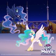 Princess Celestia and Princess Celestia Day promotional MLP The Movie