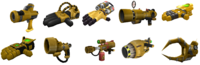 Ractchet and Clank Gadgetron Gold Weapons