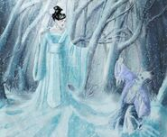 Yuki onna as ice queen by reginanegra
