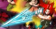 Super Saiyan God Trunks sword