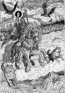 Odin (Norse Mythology) wild hunt