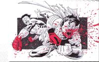 Invincible Punching out Superboy Prime