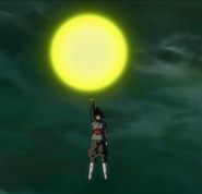 The Black Power Ball after imprinting on Goku's body