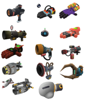 Ractchet and Clank Gadgetron Weapons