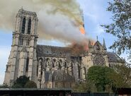 Nicole Cathedral fire (starting)