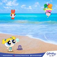 The Powerpuff Girls at Guam Beach
