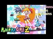 All Transformations in Powerpuff Girls Z (English)