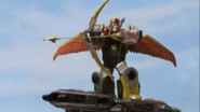 Gosei Great riding on top of Gosei Ultimate