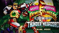 Mighty Morphin Power Rangers The Fighting Edition (SNES) - Trial Mode - Thunder Megazord Gameplay