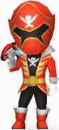 Red Super Megaforce Rangers In Power Rangers Dash