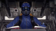 Blue Ranger in Beast X King Zord