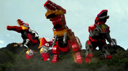 The three Tyrannosaurus Mechas