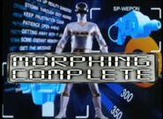Silver Space Ranger Morph 2