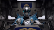 Silver Ranger in Beast X King Zord