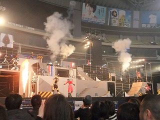 Go-Busters Stage Show at Super Hero Nagoya Dome