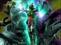 Green Chameleon Warrior Morph 2