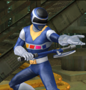 Legacy Wars Blue Space Ranger Victory Pose