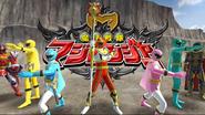 Mahou Sentai Magiranger with Legend MagiRed in Super Sentai Legend Wars