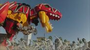 Tyranossaur Rex Zord attacks
