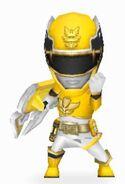 Yellow Megaforce Ranger In Power Rangers Dash