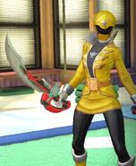 Legacy Wars Yellow Super Megaforce Ranger Victory Pose