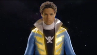 Blue Super Megaforce Ranger Morph 1